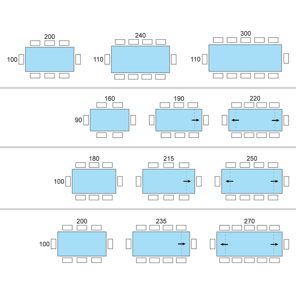 Dimensioni Tavolo Sala Da Pranzo 25 tavolo 10 posti dimensioni nel 2020 | tavolo 10 posti