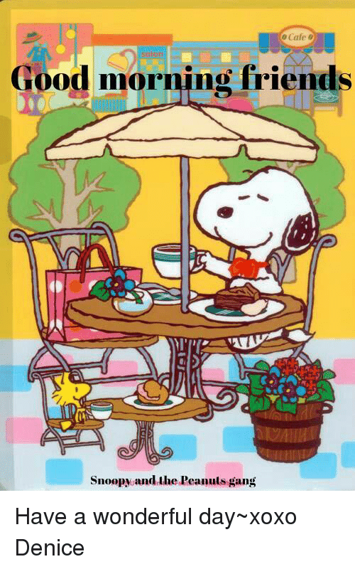 Friends Snoopy Andruhe Peanuts Gang Good Morning Snoopy Snoopy Friday Friday Coffee Quotes