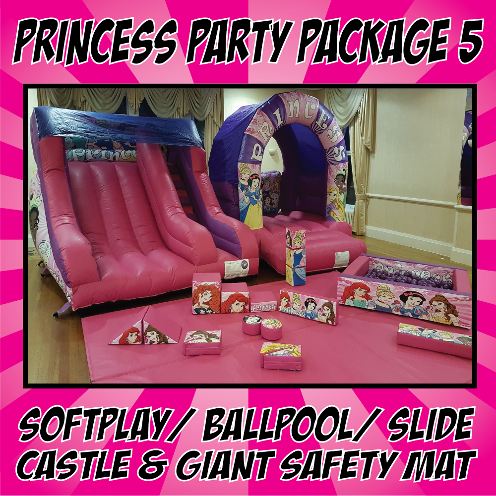 Friends party package 5 Bouncy Castle & Inflatable Hire
