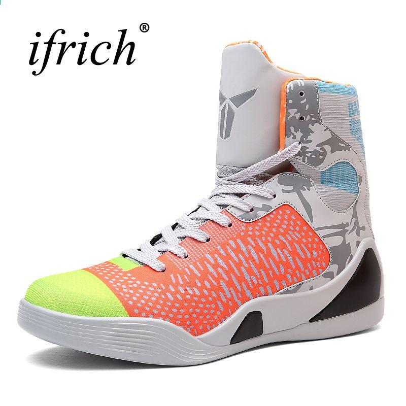 d087dceb9ace7 Pánské basketbalové tenisky Vysoká top basketbalová obuv pro muže Černo /  zelená obuv Tréninkové muži Kožené