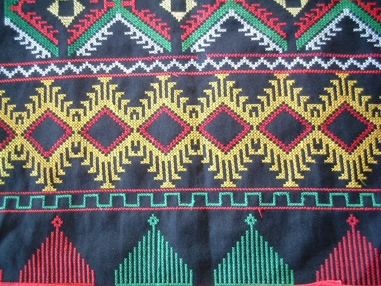Traditional Filipino: T\'boli stitched pattern. Taken in Lake Sebu ...