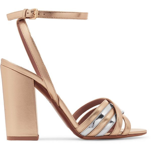 Toni Two-tone Metallic Leather Sandals - Gold Tabitha Simmons jHEQlqLt