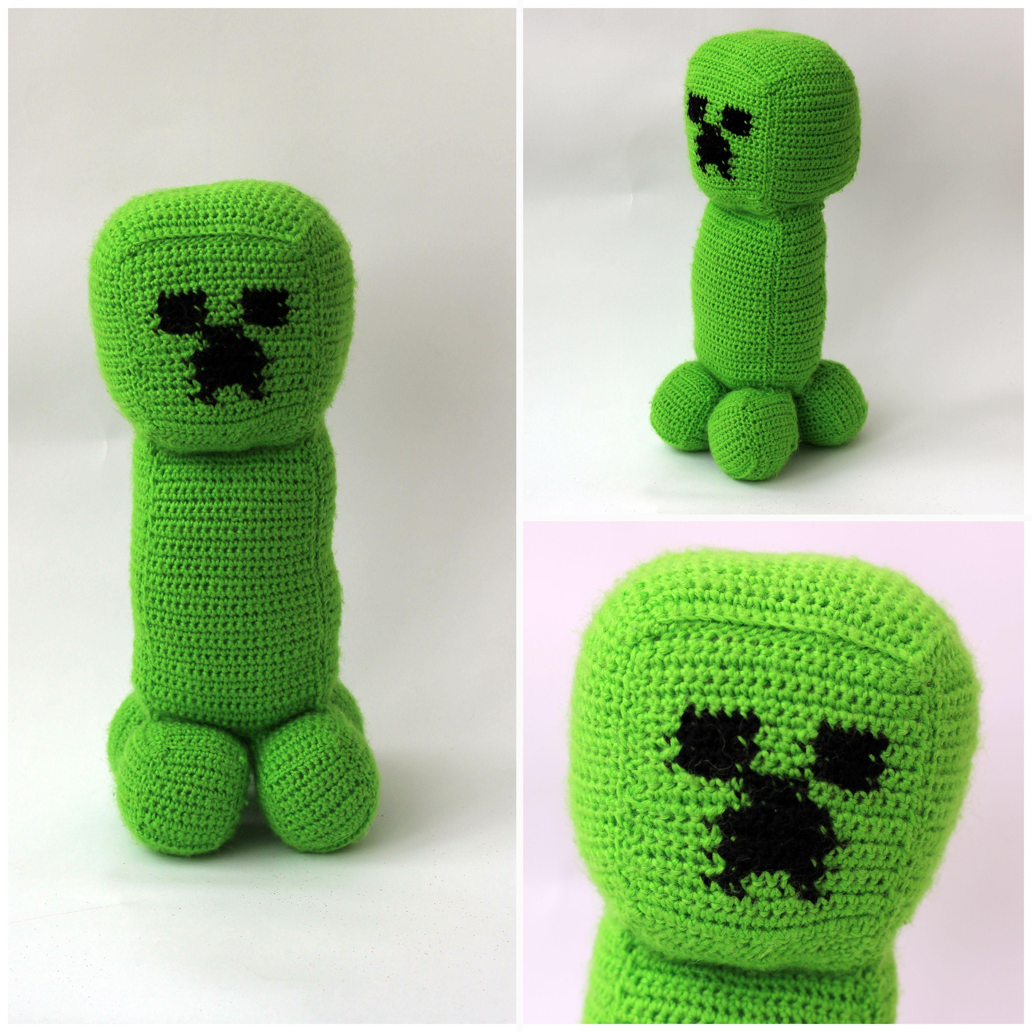 Крипер - персонаж игры Minecraft. Вязала по заказу сыночка, рост ...