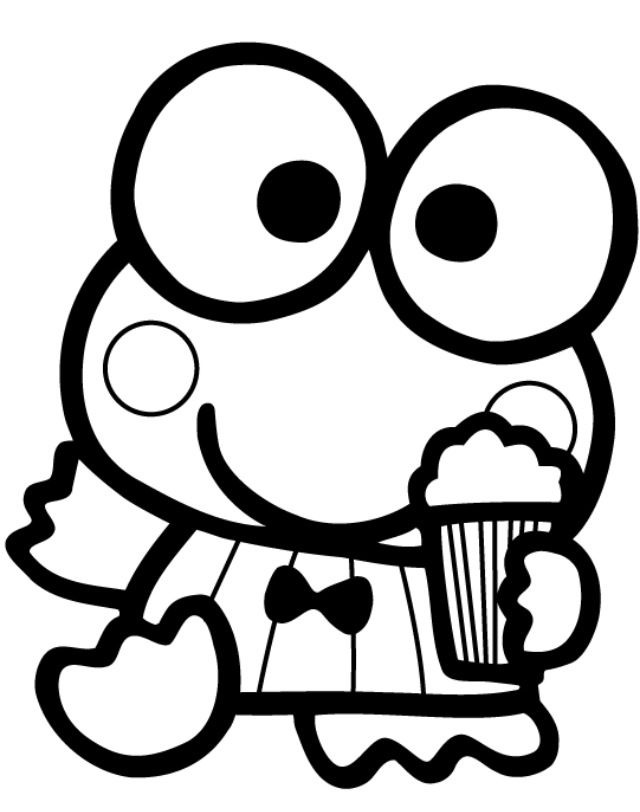 Hello Kitty Melody Coloring Pages : Keroppi cartoons animation comic strips pinterest