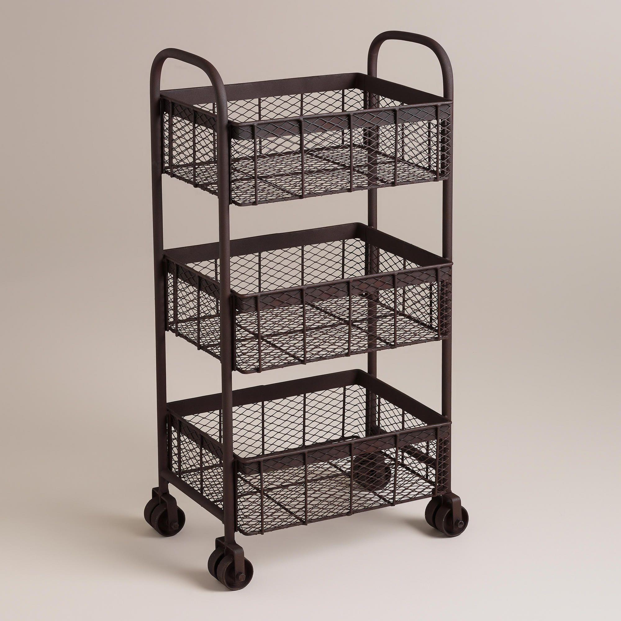 espresso oliver rolling cart world market 50