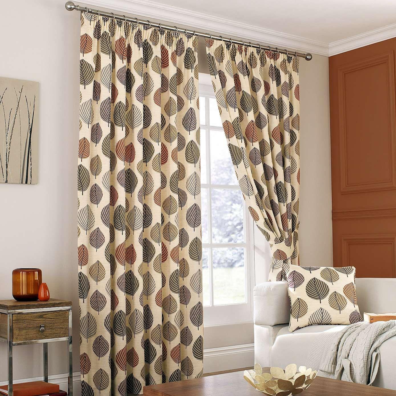 Regan Terracotta Lined Pencil Pleat Curtains