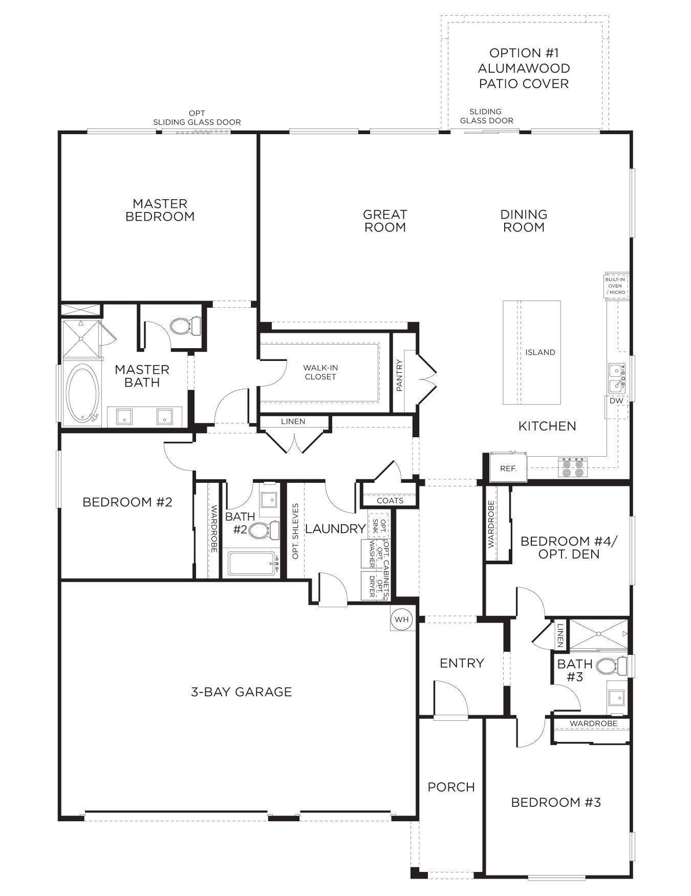 Eldorado Heights Model Plan 1AR (With images) Floor