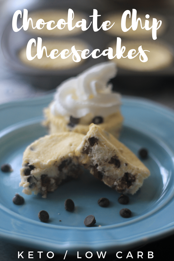 Chip Cheesecake Muffins Keto Chocolate Chip Cheesecake Muffins are so easy to make with just a few ingredients. The salty pecan layer combined with cheesecake and chocolate chips is the perfect mix of deliciousness.  Try these low carb muffins for dessert or a breakfast!Keto Chocolate ...