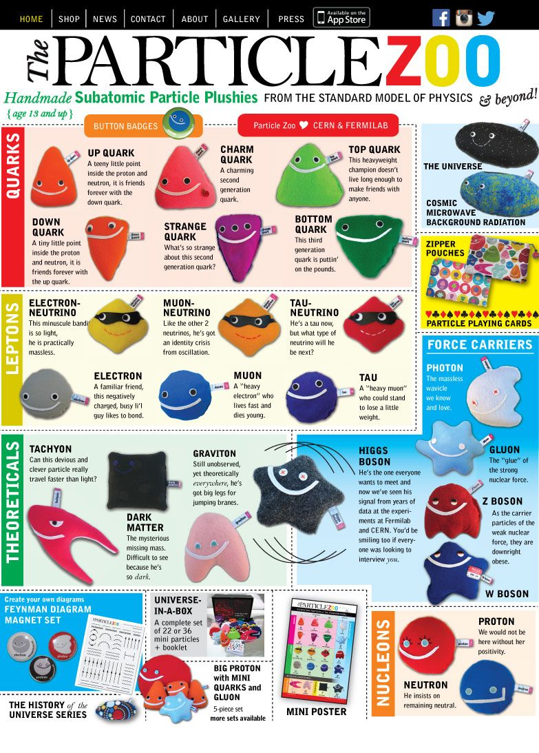 the particle zoo subatomic particle softies i will take one of each please  [ 783 x 1093 Pixel ]