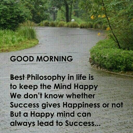 Good Morning Keep Happy Thoughts Through Every Situation