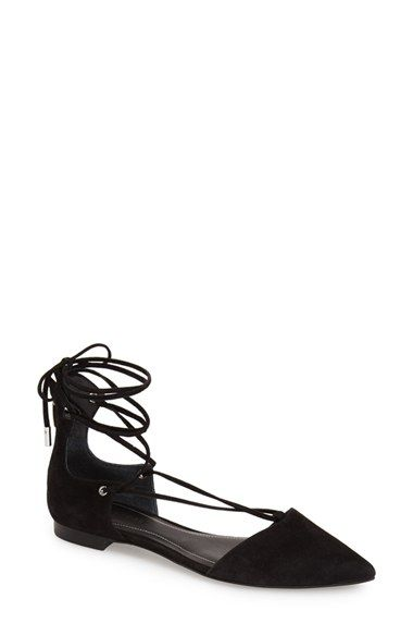 e827df4f9f8 KENDALL + KYLIE  Sage  Lace-Up Pointy Toe Flat (Women) available at   Nordstrom