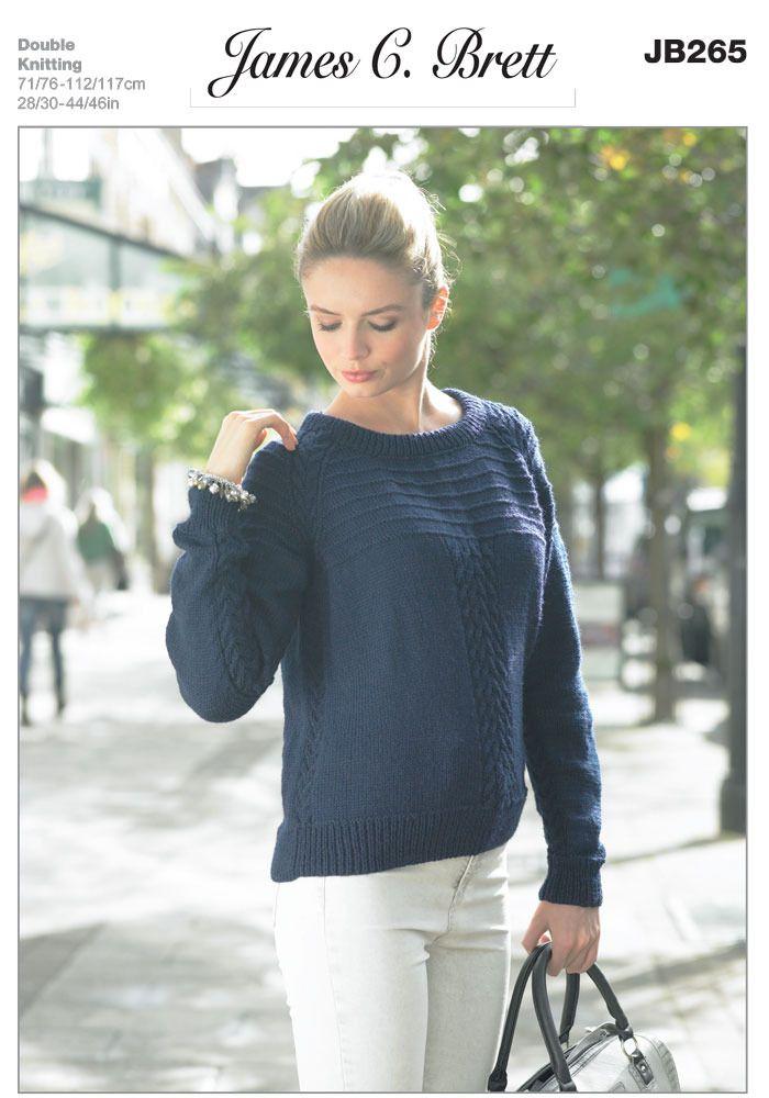 22ee49588 Sweater in James C. Brett DK with Merino - JB265