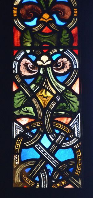 Stained glass window border   Stained glass windows ...