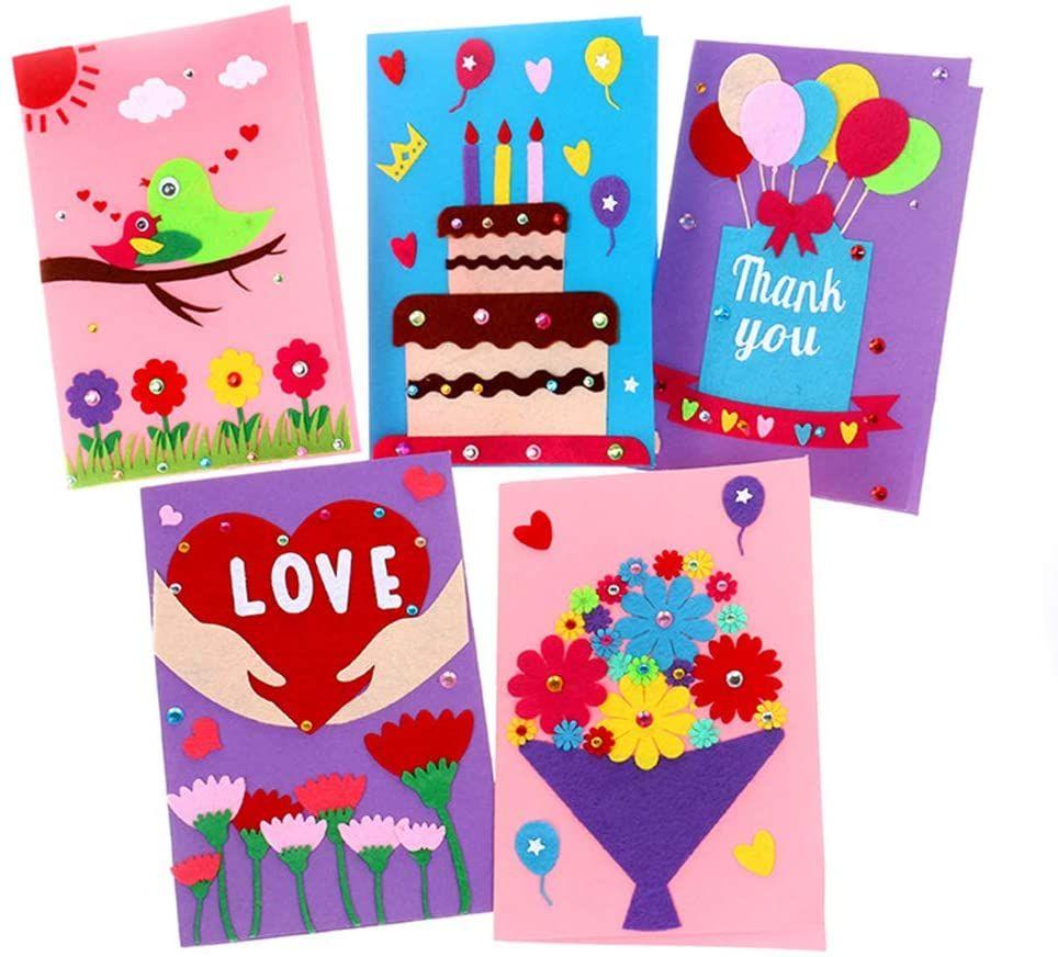 Card Making Kits Diy Handmade Greeting Card Kits For Kids Christmas Card Folded Cards And Match Greeting Card Kits Card Craft Greeting Cards Handmade