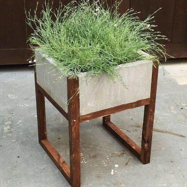 Diy Concrete Planter Box: Paver + Wood Planter
