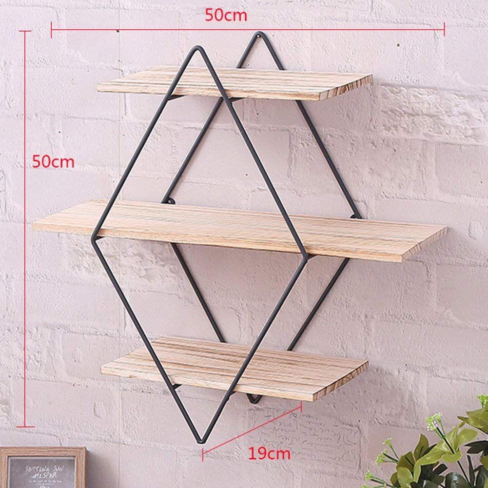 Wall Hanging Shelf Shelves Wooden Board Home Art Wall Decorative Display Storage