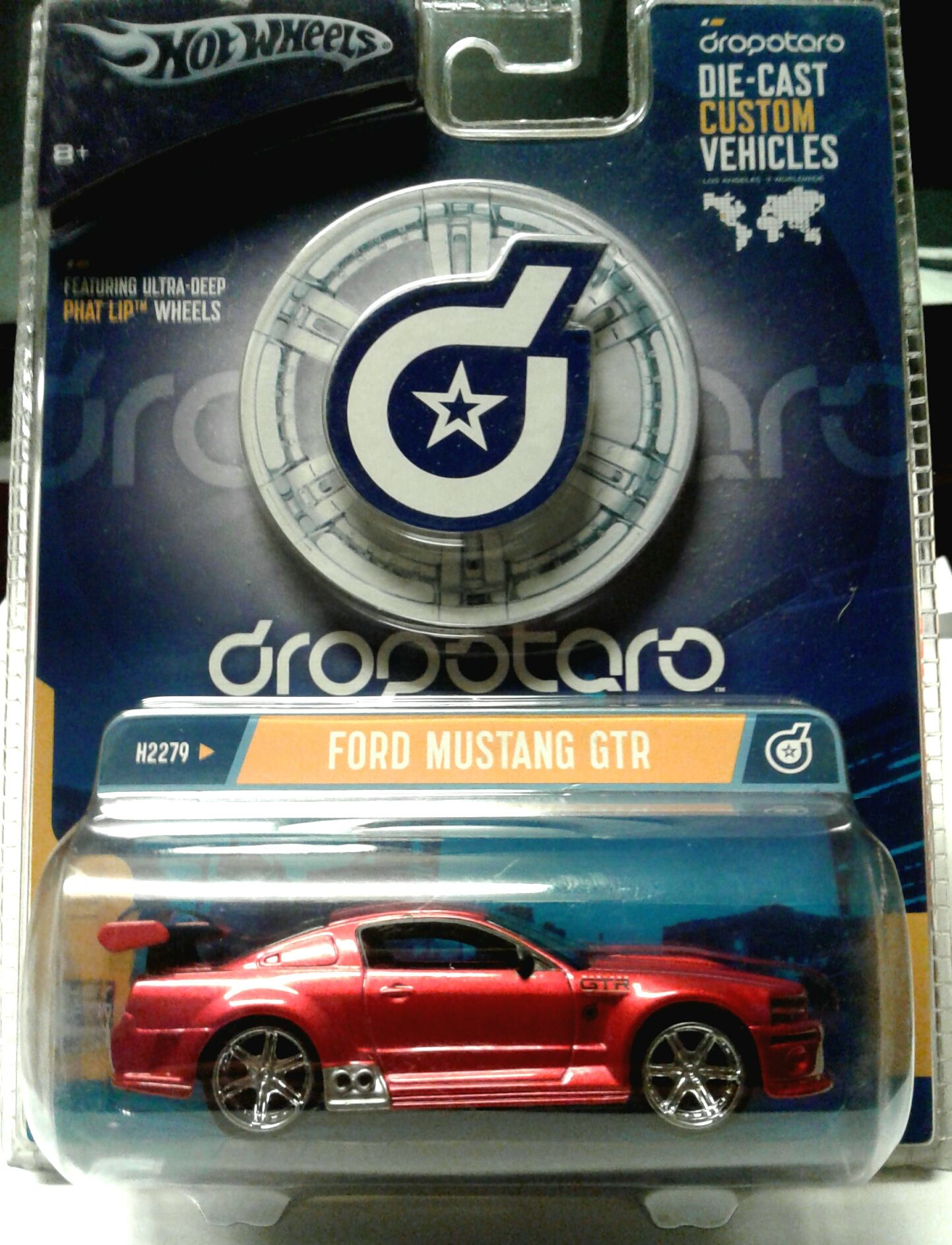 Hot Wheels Dropstars Ford Mustang Gtr 1 50 Scale Deep Dish Rims Price 14 95 Mustang Gtr Hot Wheels Diecast Cars