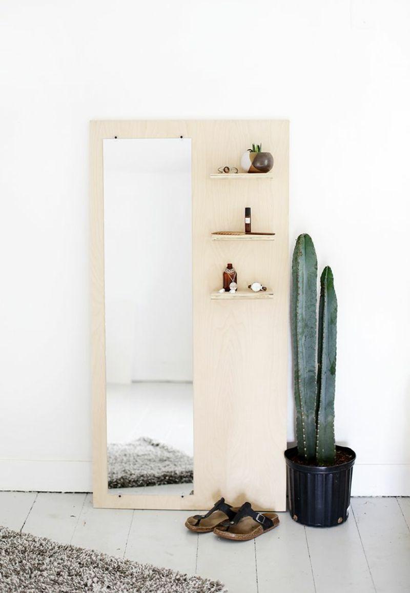 Kreative Wandgestaltung Ideen Flur Flurmöbel Kaktus