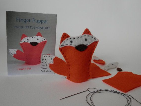 Finger Puppet Sewing Kit - Sneaky Fox