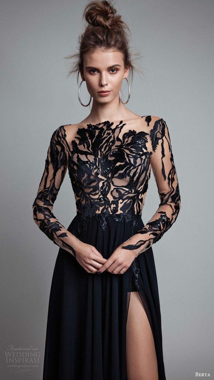 Etre une femme bien habillée tenues de soirée femme robe noire longue  magnifique 276b3ae83f1