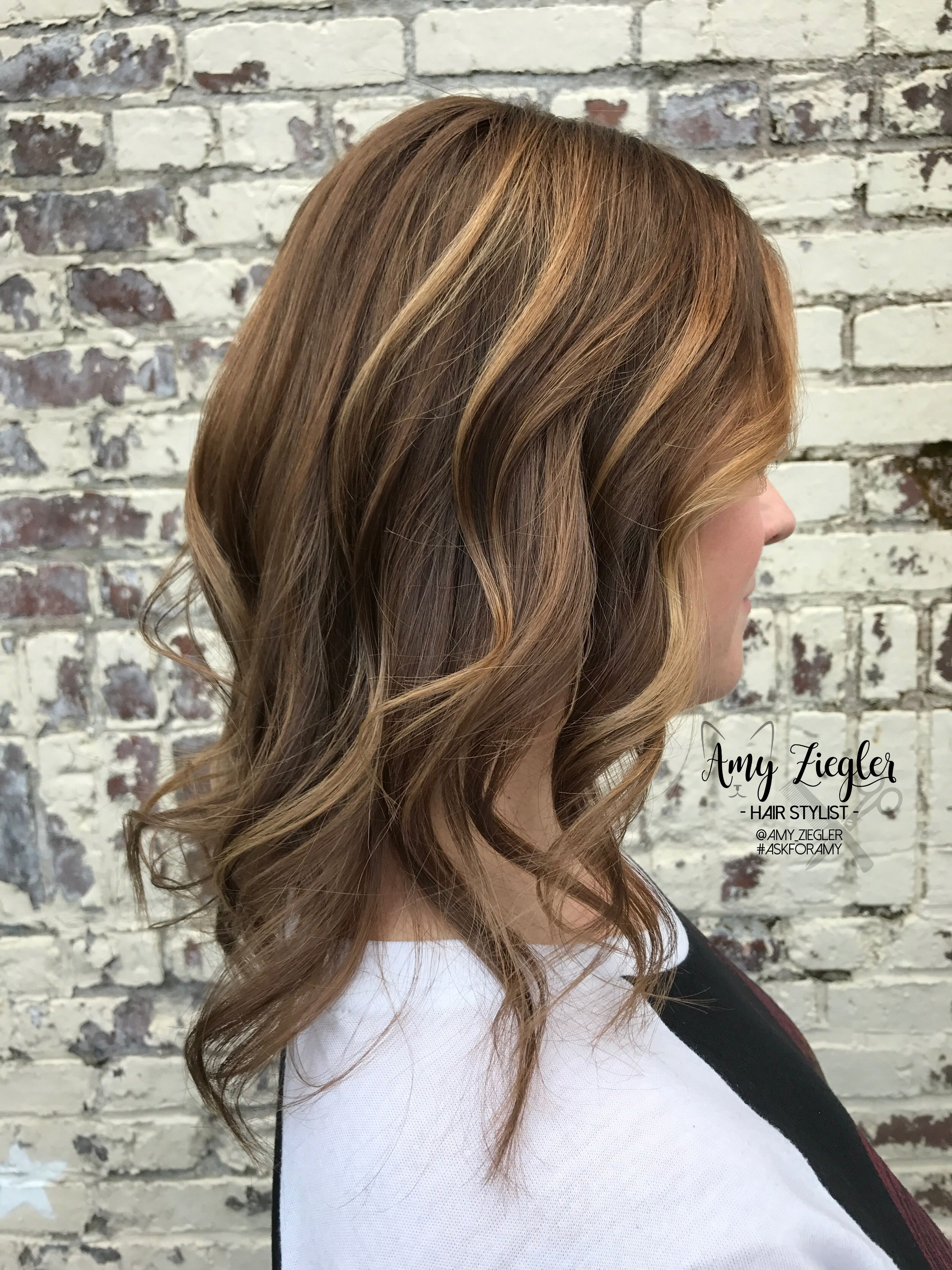 Subtle balayage on level 6 brunette with fine hair by amy ziegler