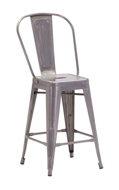Elio Counter Chair Gunmetal (Set of 2)