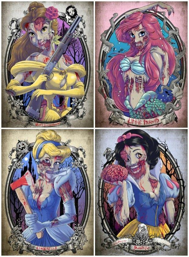 Zombie #Disney Princes...