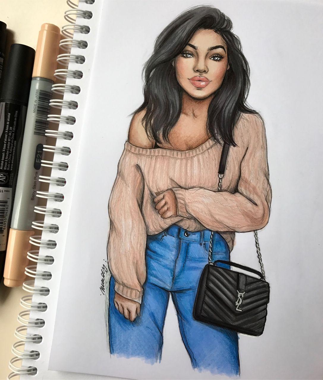 Epingle Par Sabeauty Sur Girl Drawing En 2020 Dessin Vetement