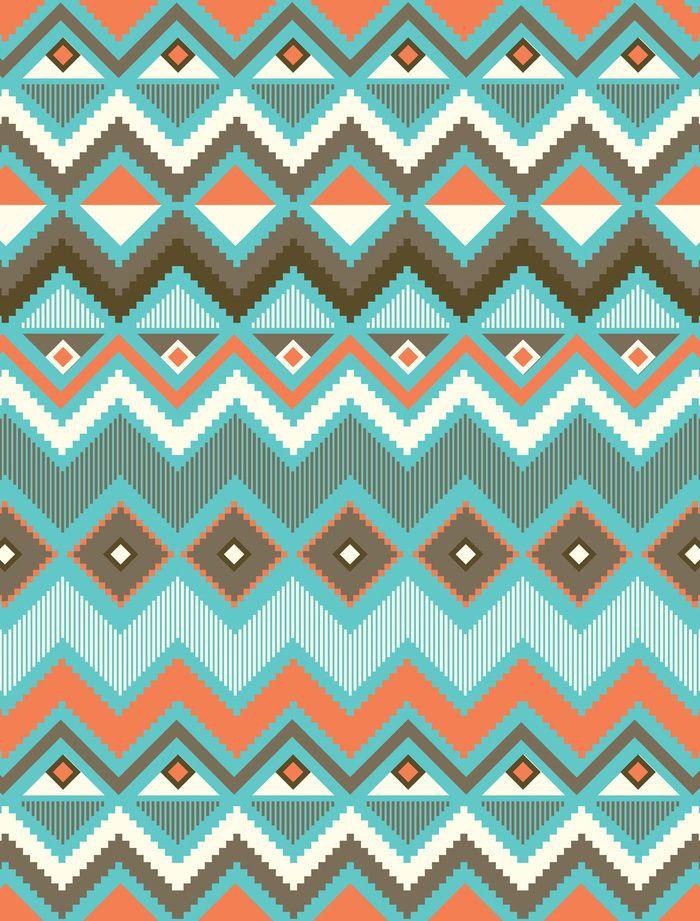 Aztec Art Print by Priscila Peress | Society6 | Aztec ...