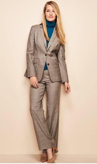 Italian Classic Glen Plaid Suit Beautifully Chic Wear To Work
