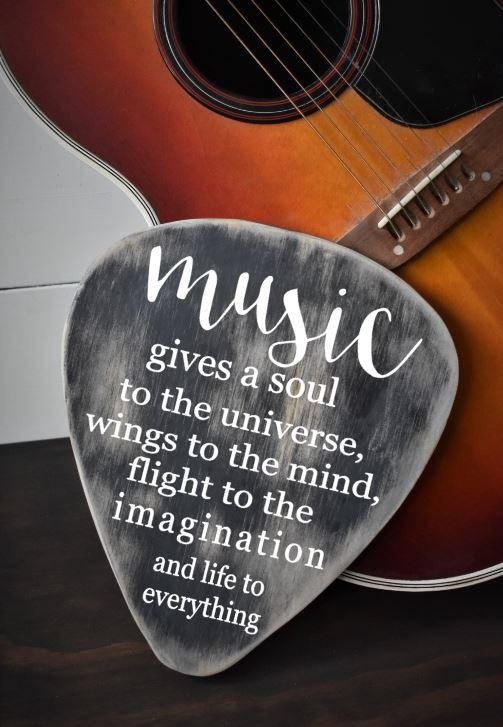 This Handcut Wood Guitar Pick Is The Perfect Gift For That Special Musician In Your Life It Would Look Great As Part Of A Gallery Or All On Its Own