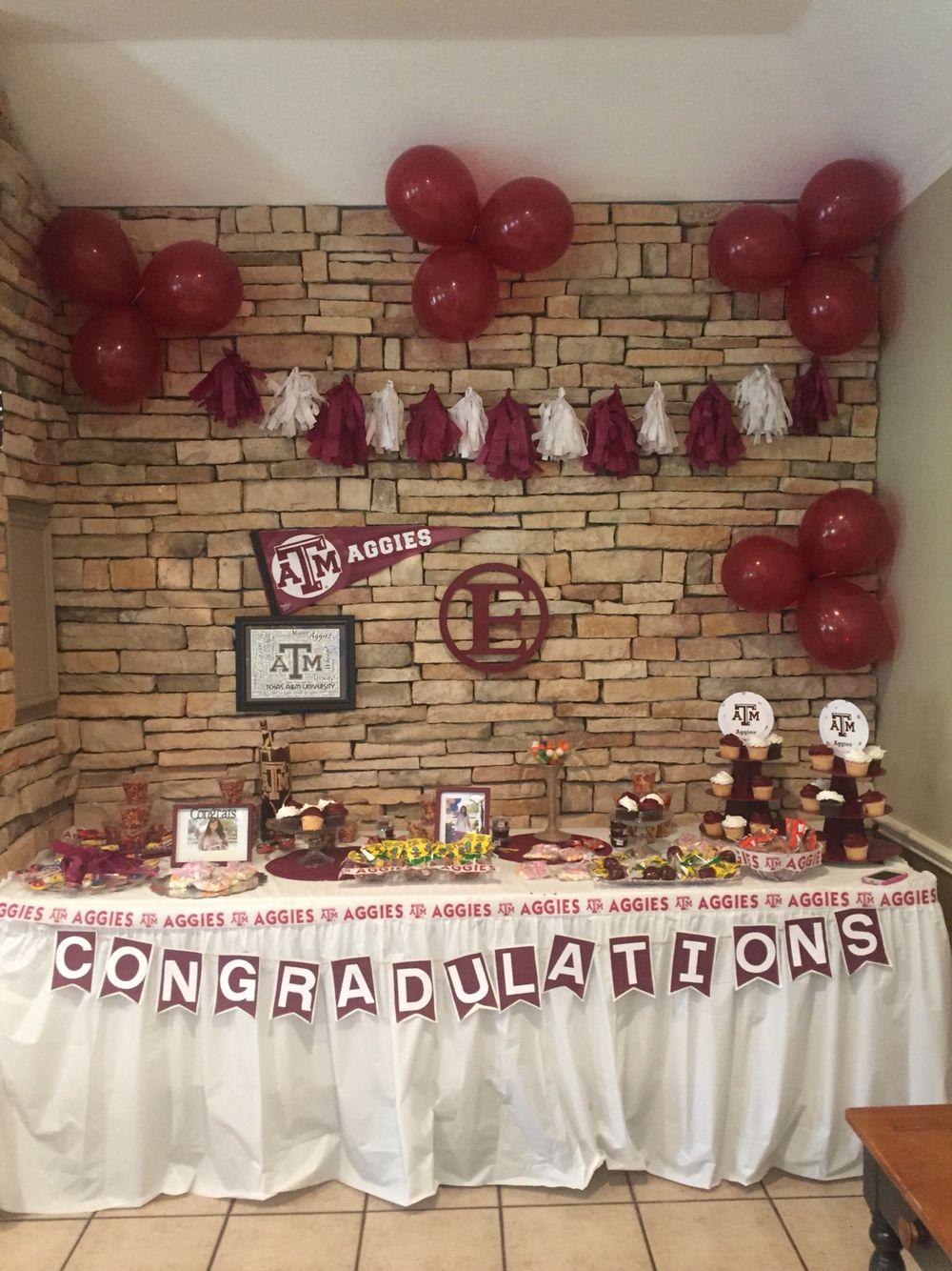 Texas A&M Graduation Party Table #gig\'me   Thx & Gig \'Em   Pinterest ...