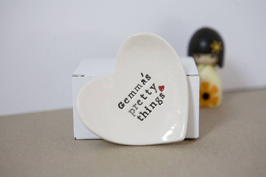 personalised gift ring dish by badgers badgers   notonthehighstreet.com