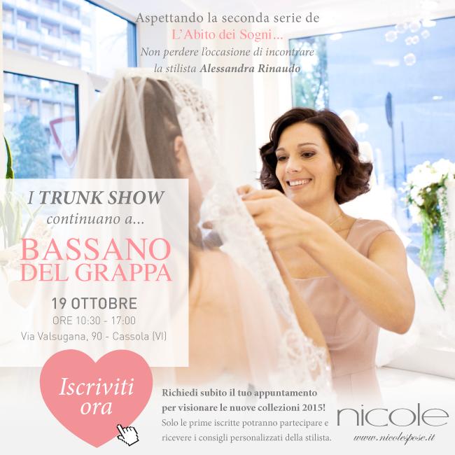 Trunk - show with Alessandra Rinaudo at Bassano del Grappa Atelier. #nicolespose #weddingdress #bridal #alessandrarinaudo