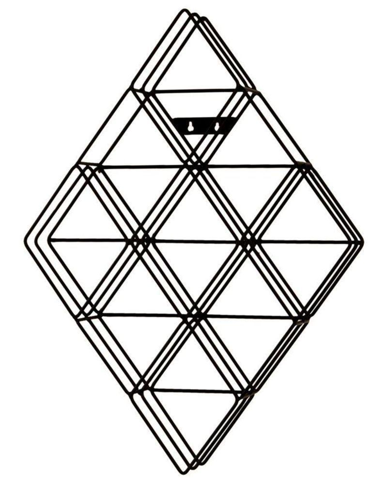 108-Disc Capacity Diamond-Shaped Wall-Mount CD Storage