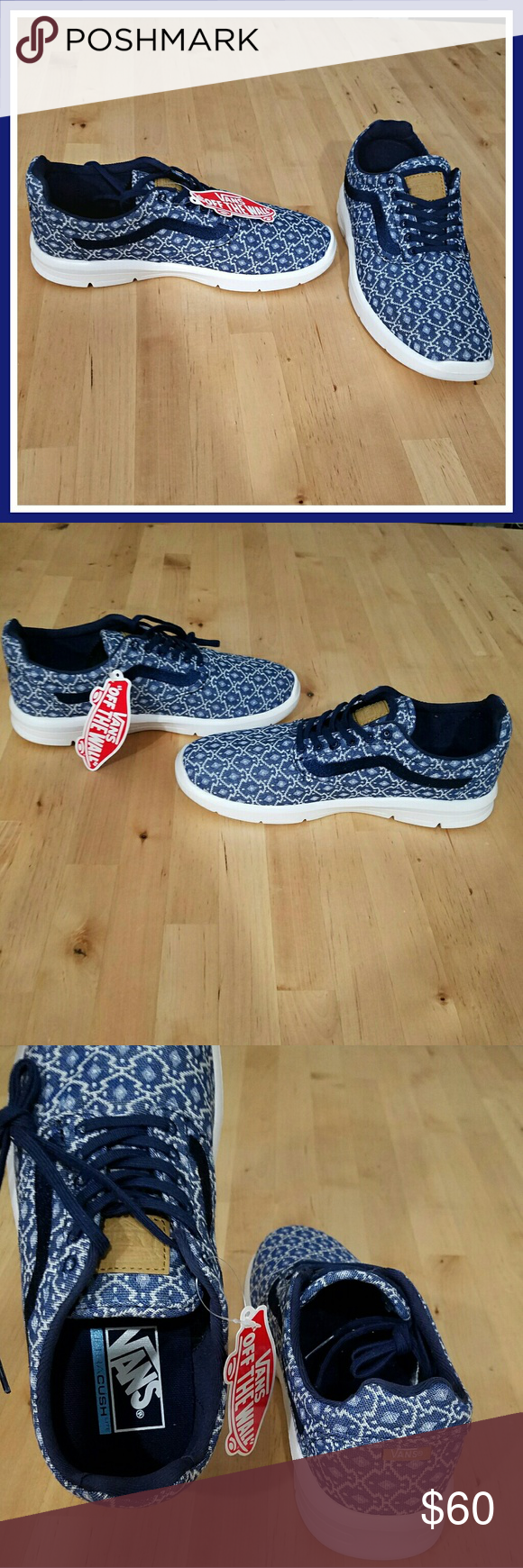 9f21d935604 Blue Aztec Iso 1.5 Vans Casual blue blanket weave Iso 1.5. Equipped with  ULTRA-CUSH for maximum comfort. True to size men s 6.5