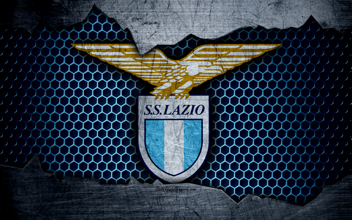 Download Wallpapers Lazio 4k Art Serie A Soccer Logo Football