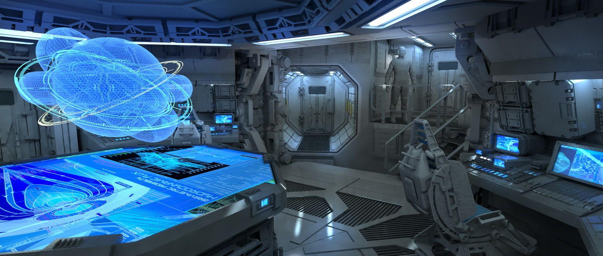 Artstation alien covenant ship interiors steve burg for Interior room design generator