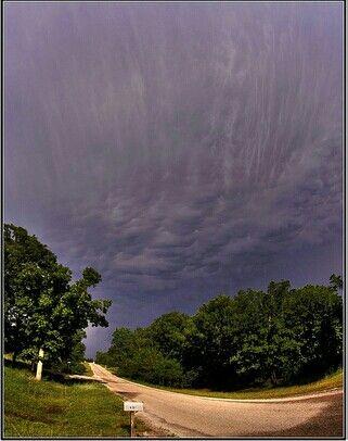 Sky after tornado in Moore,Oklahoma