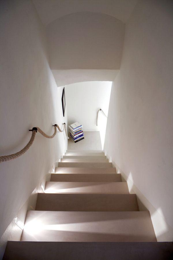 Barandilla de cuerda stairs pinterest cuerda - Pasamanos de cuerda ...