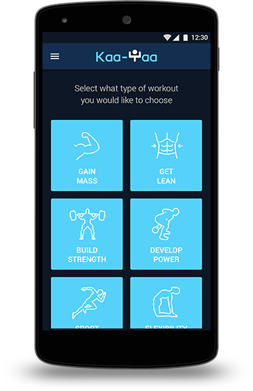 KaaYaa is a fitness training app designed to help you