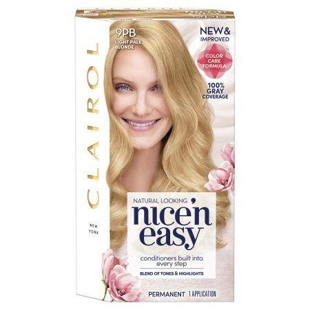 Clairol Nice N Easy Hair Color 9pb Light Pale Blonde Permanent