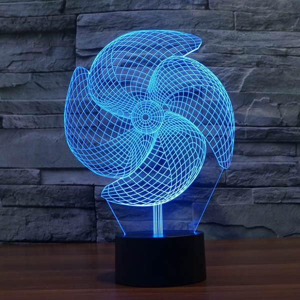 LampGoamiroo Products Colorful Led 3d Pinwheel Pattern Novelty sdhCrtQ