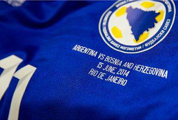 Bosnia and Herzegovina adidas Customized Shirt for First 2014 World Cup Match