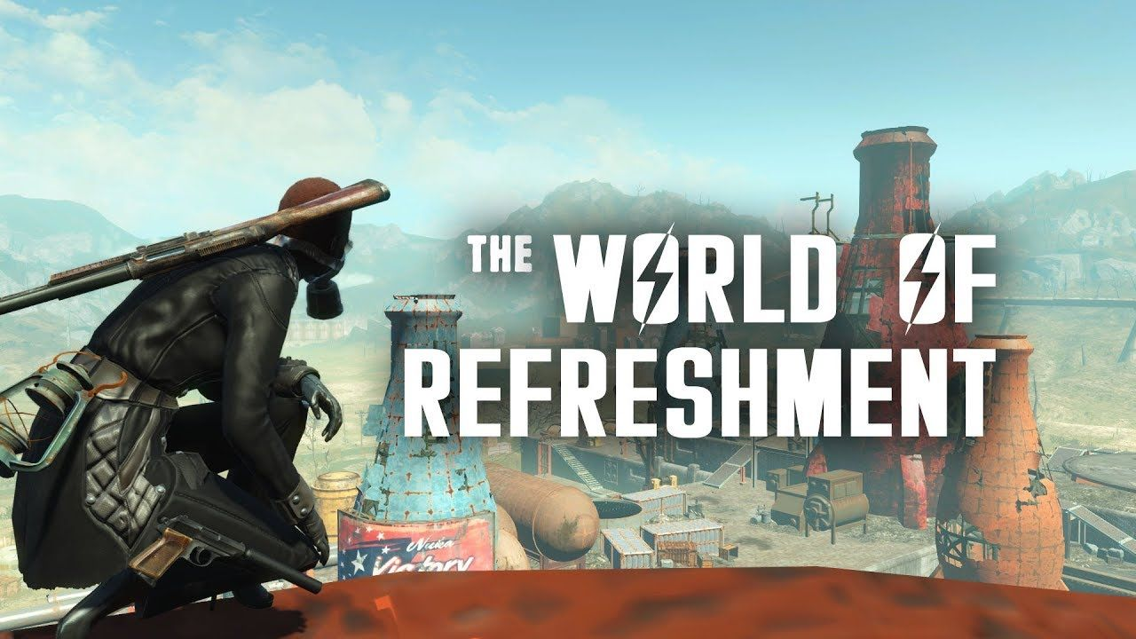 The World Of Refreshment The Nuka Cola Bottling Plant In Nuka World Nuka World Fallout Tips Fallout