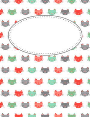 Cat Binder Cover | Free Printable Binder Cover Templates | Pinterest ...