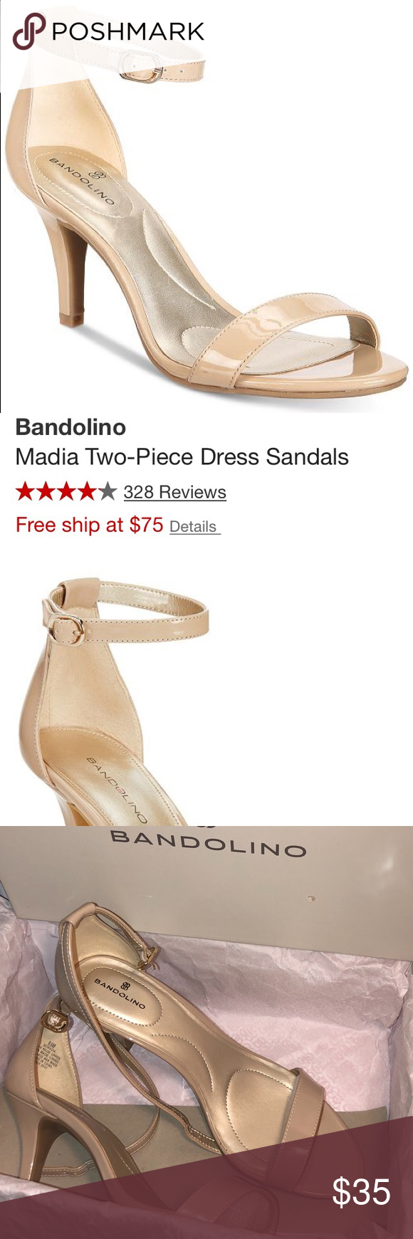 944a6d0a29933b Bandolino Madia Two Piece Dress Sandals Size 8 1 2 These super comfy dress  sandals