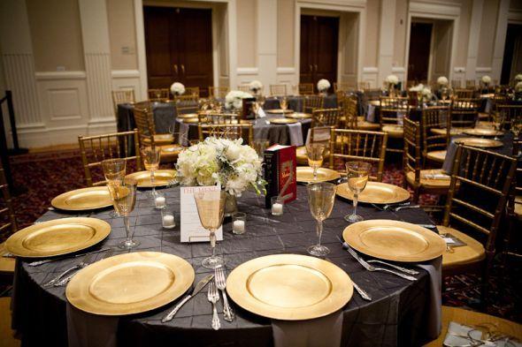 dark grey, magenta, gold weddings | winter wedding decorations and ...