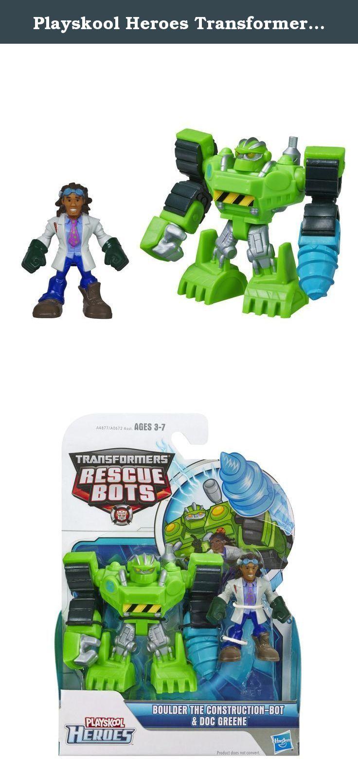 Playskool Heroes Transformateurs Rescue Bots Rescan Boulder construction toys