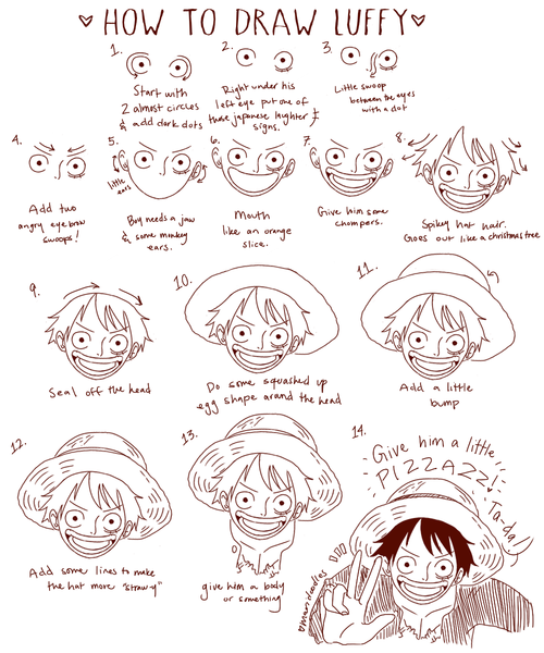 Monkey D Luffy How To Draw Drawling Pinterest Drawings